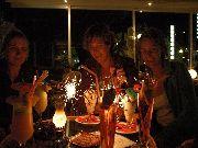 kreta - Ammoudara - Płonące drinki