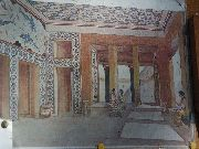 knossos - Wyobrażenie wnętrza  pałacu w Knossos