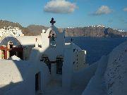 Santorini - Kosciółek w Oia /Ia/