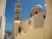 Santorini - Koscół greko-katolicki w Fira