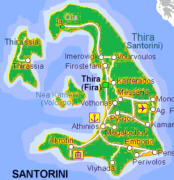 Santorini - mapka wyspy