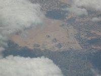 Kair - piramidy z samolotu