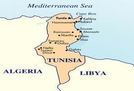 Mapa Tunezji Mapki Tunezja Tunezja Tunis Sahara Afryka
